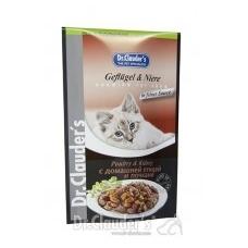 Dr. Clauder's drėgnas maistas katėms su paukštiena ir inkstais padaže, 100 g