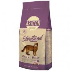 Araton Sterilised sausas pašaras sterilizuotoms katėms, 15 kg