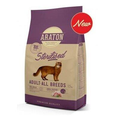 Araton Sterilised sausas pašaras sterilizuotoms katėms, 1,5 kg