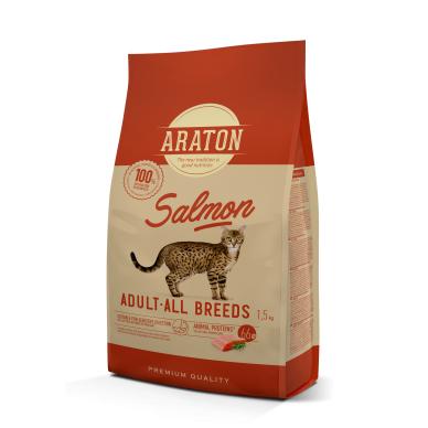 Araton cat adult salmon pašaras suaugusioms katėms, 15 kg
