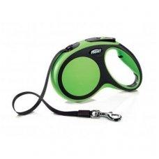 Flexi Comfort M automatinis juostelinis pavadėlis šunims iki 25 kg, 5 m, žalias-juodas