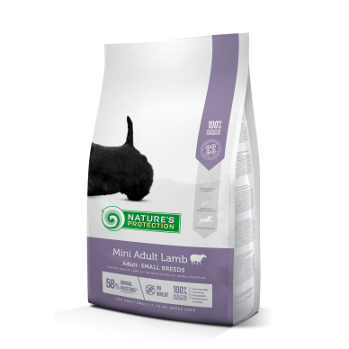 Nature's Protection Mini Adult Lamb Small breed dog, 7,5 kg