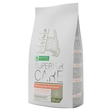 Nature's Protection Superior Care White Dogs Grain Free Salmon, 10 kg