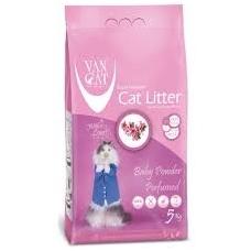 Van Cat bentonitinis kraikas katėms su kūdikių pudra, 5 kg